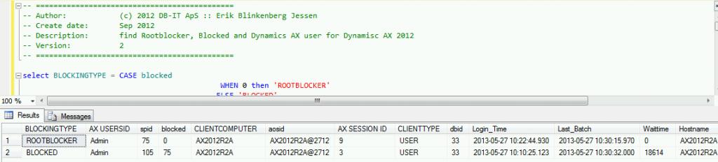 Blocking AX2012